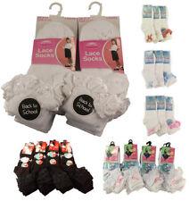 Chaussettes et collants socquettes blancs pour fille de 2 à 16 ans