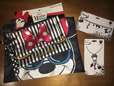 Disney Minnie Mouse Cosmetic Bag Claire's Store Ears Jewelry Charm Bracelet Lot