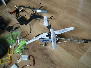 Remote Control Helicopters, Drone + parts, remotes, batteries,spares. JOB LOT