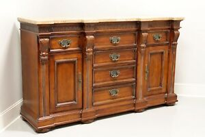 HICKORY WHITE Monumental Legends II Marble Top Credenza / Sideboard