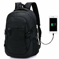 Laptop Backpack - Computer Back Pack College Rucksack With USB Charging Port Wat
