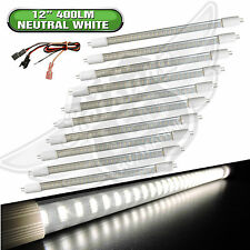 "10 x RV LIGHT BULB T5 12"" fluorescent tube replacement LED 400 Lum Natural White"