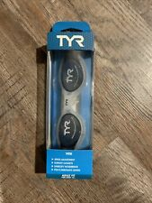 Tyr Vesi Adult Fit Ages 16+ Adult Goggles Polycarbonate Lenses Smoke/White