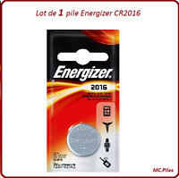 1 pile bouton CR2016 lithium Energizer, livraison rapide et gratuite