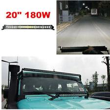 180W Slim 20 Inch LED Work Light Bar Spot Flood Beam Offroad Fog Driving 4WD 4x4