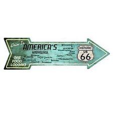 """Outdoor/Indoor Route 66 Americas Highway Drive In Metal Arrow Sign 5"""" x 17"""""""