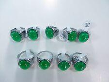 *US Seller*20 pcs wholesale rings green agate stone fashion ring