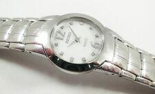 Seiko SUJ281 Silver Tone Stainless 1N00-0DP8 W/ Gems Sample Watch NON-WORKING