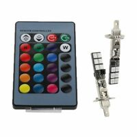 H1 H3 880 881 5050 LED 12SMD RGB Car Headlight Fog Light Lamp Bulb+Remote C I3D8