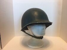 Original US WW2 M1 Helmet And Westinghouse Liner Front Seam Fixed Bale RARE