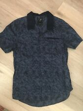 GUESS MENS SHIRT BLOUSE COTTON PRINTED BUTTONS POCKET Slim Fit SZ M