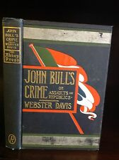 Boer War - JOHN BULL'S CRIME - Webster Davis-1901
