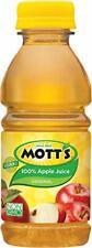 Motts 100 Percent Apple Juice, 8 Fluid Ounce - 6 per pack - 4 packs per case.