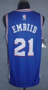 Joel Embiid NBA Authentics Swingman Philadelphia 76ers Jersey Men's Size (50) L