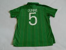 "REPUBLIC OF IRELAND EURO 2012 FOOTBALL HOME SHIRT RICHARD DUNNE 5 ,MENS XL 44"""