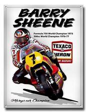 Barry Sheene Metall Sign.formula 750cc & 500cc World CHAMPION.40.6cmX30.5cm A3