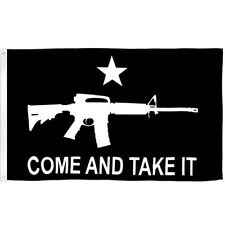 3x5 Black Come And Take It Rifle Flag Outdoor Banner Gun Rights Protest New