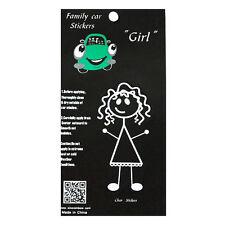 Family Car GIRL Window Stickers Decals Vinyl Figure Decoration