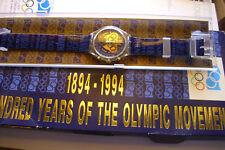 Sammlerstück Swatch Edition Swiss Made Chronograph OLYMPIC selten Top Neu !