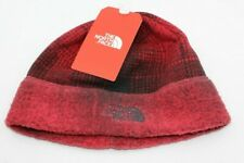 NWT THE NORTH FACE SWEATER FLEECE PLAID BEANIE - O/S - RED (MSRP $25) SHIPS FREE