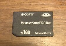 Genuine OEM Sony Memory Stick PRO Duo 1 GB MagicGate Memory Card