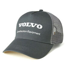 Volvo Trucks CE Construction Equipment Charcoal Gray 3D Mesh Snapback Cap/Hat