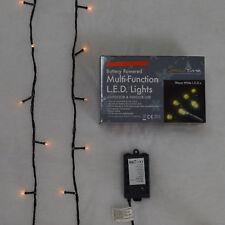 Super-Long 10m Battery Powered Multi-Function 100 LED Warm White Lights