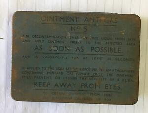 WW2 Ointment Anti-Gas Tin No. 5