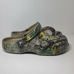 Crocs Baya Realtree Xtra Men's Clog Size 9 Model 206517-260 Camoflague