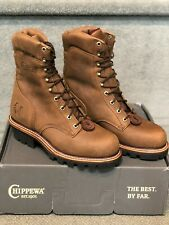 CHIPPEWA LIMITED EDITION SUPER LOGGER BOOTS # 59405 STEEL TOE  size 10.5 E