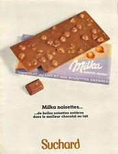 Publicité 1968  Milka chocolat au lait et aux noisettes entières Suchard