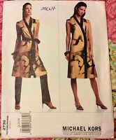 Vogue MICHAEL KORS 2739 American Designer UNCUT Sewing Pattern Dress Sz 12 14 16
