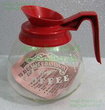Vintage NITF Genuine Harley-Davidson Commercial Coffee Carafe Decanter Pot MUSTC