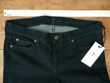 "BNWT New 7 FOR ALL MANKIND Size W 30"" L29 THE SKINNY Jeans DARK BLUE Denim SEVEN"