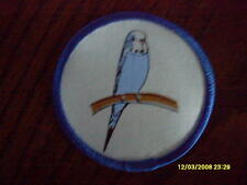 Brand New Cloth Badge of a Budgie