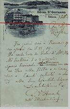#PALLANZA: HOTEL St. GOTHARD- 1896