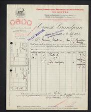 """JOUET-sur-l'AUBOIS (18) CHAUX & CIMENT de BEFFES """"Ernest GRANDJEAN"""" BOURGES 1932"""