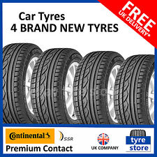 4x New 205 55 16 CONTINENTAL PREMIUM CONTACT SSR RUN FLAT 91V 205/55R16 2055516