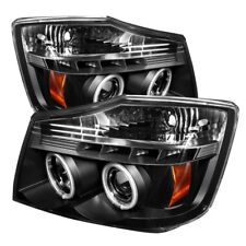 Fit Nissan 04-15 Titan / 04-07 Armada Black CCFL Halo LED Projector Headlights