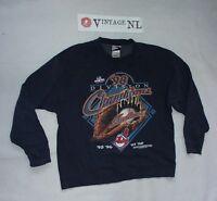 PRO PLAYER  HERREN 1998 CLEVELAND INDIANS MLB PULLOVER  Gr 26 (etikett L)