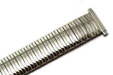 SPEIDEL 15-21MM SILVER TWIST O FLEX METAL EXPANSION STRETCH STRAP WATCH BAND