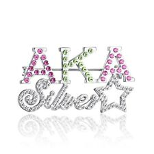 Fashion Alpha K Alpha Sorority Crystal Brooch AKA Star Brooch Pins Women Jewelry