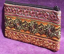 Trousse Pochette Coton Paillettes 17,5x10cm Artisanat Inde Tha-in-daga 12