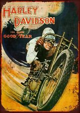 """HARLEY DAVIDSON (#2) 10X8"""" VINTAGE STYL METAL ADVERTISING SIGN WALL PLAQUE"""
