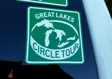 GREAT LAKES MICHIGAN SCENIC CIRCLE TOUR VINYL DECAL / STICKER 4in x 4in