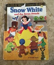 "Snow White and the Seven Dwarfs WALT DISNEY's 1981 9.5"" x 12.5"" A Golden Book"