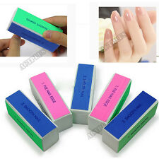 5PCS Nail Art Polisher Tools 4 Ways Shiner Sanding Buffer Polishing Block File A