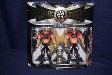 WWE CLASSIC SUPERSTARS LEGION OF DOOM HAWK & ANIMAL BELTS JAKKS ACTION FIGURES