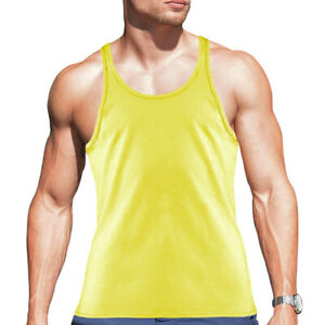 Men's Gym Stringer 100% Cotton Tank Top for Bodybuilding and Fitness  - Rhambo