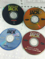 You Don't Know Jack PC Set of 4 Games Volume 1, 2, 3 Movies 1995-97 (Disc Only)